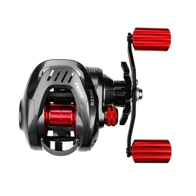 GUGUFISH New High Speed 7.2:1 Gear Ratio Baitcast Fishing Reel 13+1 Baitcasting Fishing Reels cb5feb1b7314637725a2e7: Red