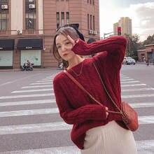 Плотный короткий свитер Женская осенне зимняя куртка Свободный