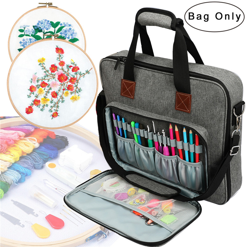 Embroidery Kits Storage Bag Sewing Sewing Accessories Organizer For Embroidery Floss Storage Box, Needles, Thread, Yarn Balls