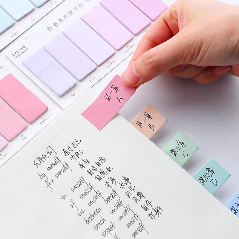 Sharkbang 60/80 листов, градиентный цвет, N раз, липкий индекс, наклейка для заметок, стикер, закладка для списка, Paperlaria, школьные канцелярские принадлежности 6