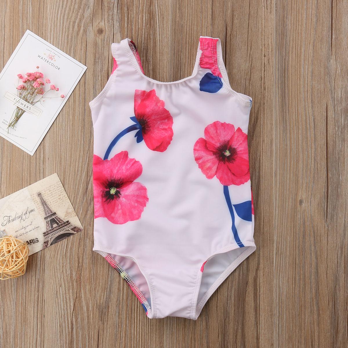 Купить купальник для маленьких девочек с цветочным принтом купальник
