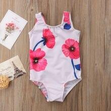 Купальник для маленьких девочек с цветочным принтом купальник