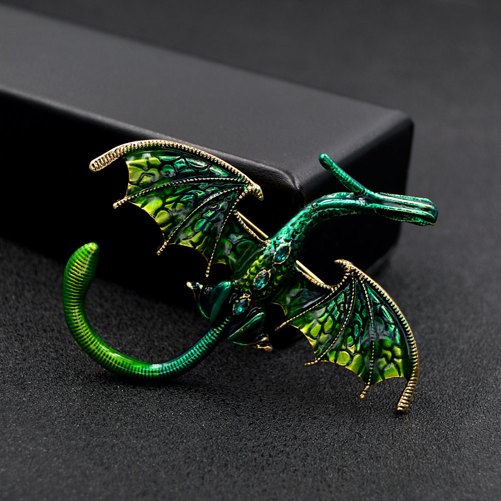 CINDY XIANG New Arrival Enamel Dragon Brooch Unisex Women And Men Pin Animal Large Brooches 5 Colors Available Gift 4