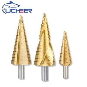 Image 2 - Foret à pas en acier titane UCHEER  hss tige triangulaire 4 12/4 20/4 32 foret à tarière