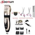 Baorun p2 clippers para cães profissional pet cat gromming trimmer kit recarregável gatos máquina de corte de cabelo animais de estimação barbeador para animais