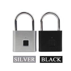 Akumulator USB inteligentny bez przycisków zamek elektryczny linii papilarnych IP65 wodoodporna kłódka zabezpieczająca przed kradzieżą kłódka do bagażu