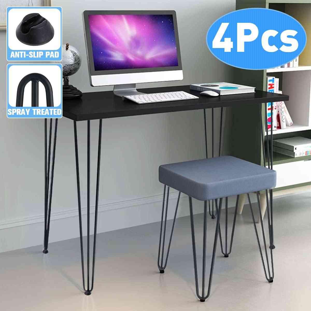 4pcs Table Legs Solid Iron Metal Table Desk Leg 28 30 Inch Table Chair Laptop Desk Hairpin Legs Anti Slip Diy Furniture Legs Furniture Legs Aliexpress