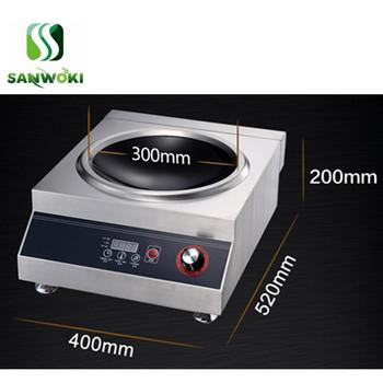 Elektromagnetyczne urządzenie do gotowania wklęsła kuchenka indukcyjna 3500w elektryczna maszyna do smażenia maszyna do smażenia tanie i dobre opinie SANWOKI CE UE SA-WA-01 220v adjustable 405*510*210mm