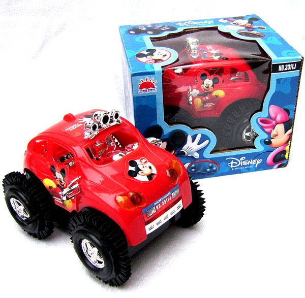 Electric Toy Car Big Mickey Tilting Somersault Stunt Car Children Car Stall Hot Sales Supply Of Goods