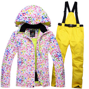 Image 4 - New Thick Warm Womens Skiing and Snowboarding Jacket Pants Set Waterproof Windproof Ski Suit Female Snow Costumes Outdoor Wear