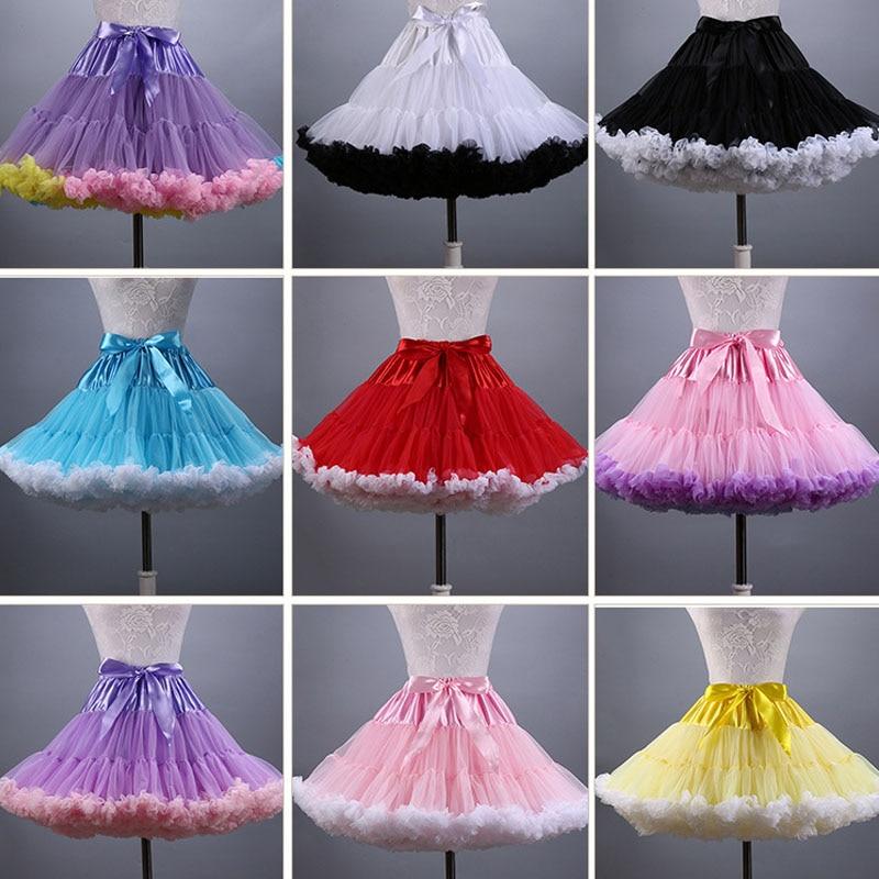 Hot Sale 2019 Adult Women Petticoat Mnini Tutu Skirt Ball Gown Dance Sexy Women Short Puffy Tulle Skirts
