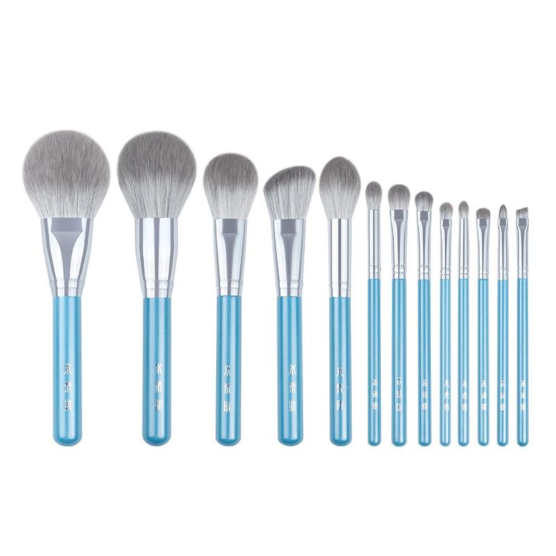 Mydeliance Кисть для макияжа/серия Iris 13 шт Высококачественный Синтетический набор кистей для волос-пудра, румяна, основа, тени для век и красота
