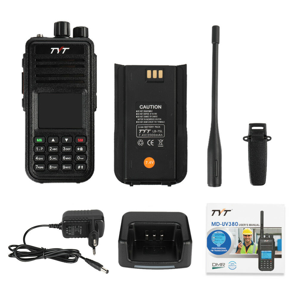 Image 5 - TYT DMR Digital Mobile Radio TYT MD 380 Tytera Walkie Talkie 1000 Channel Professional Two Way Radio UHF 400 480MHz-in Walkie Talkie from Cellphones & Telecommunications