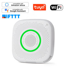 Tuya WiFi GAS GPL Sensore di Perdite di allarme Incendio rivelatore di Sicurezza APP di Controllo di Sicurezza casa intelligente di Dispersione del sensore(China)