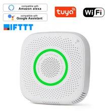 Tuya WiFi gaz LPG kaçak sensörü alarmı yangın güvenlik dedektörü APP kontrolü güvenlik akıllı ev kaçak sensörü