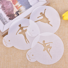 Ballerina Shape Sugar Cake Decoration Icing Sugar Hollow Out Coffee & Cookie Garland Moulds 3PCS(China)