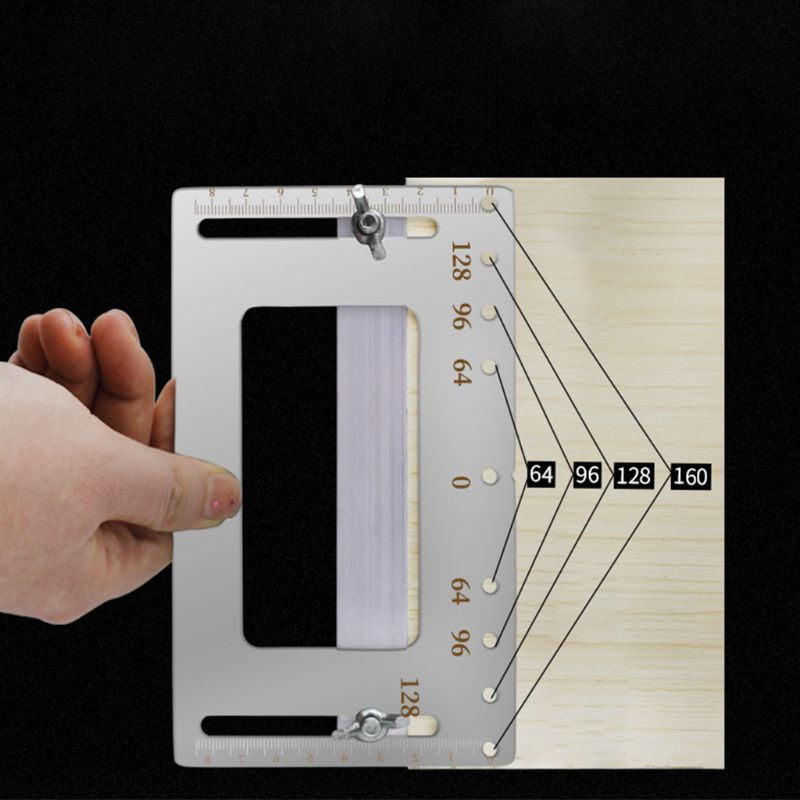 Cabinet Hardware Jig Punch Locator Woodworking Drill Guide Furniture Handle Tool M89B