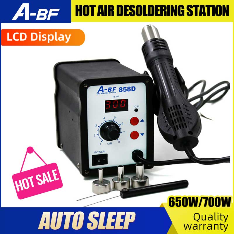 A-BF 858/858D Hot Air Gun Desoldering Station Digital Display Intelligent Lead-free Disassembly Welding Table Maintenance Tool