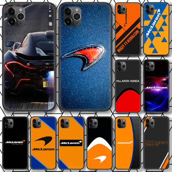 Mclaren Honda Logo Phone case For iphone 4 4s 5 5S SE 5C 6 6S 7 8 plus X XS XR 11 12 mini Pro Max 2020 black cell cover 3D cover image