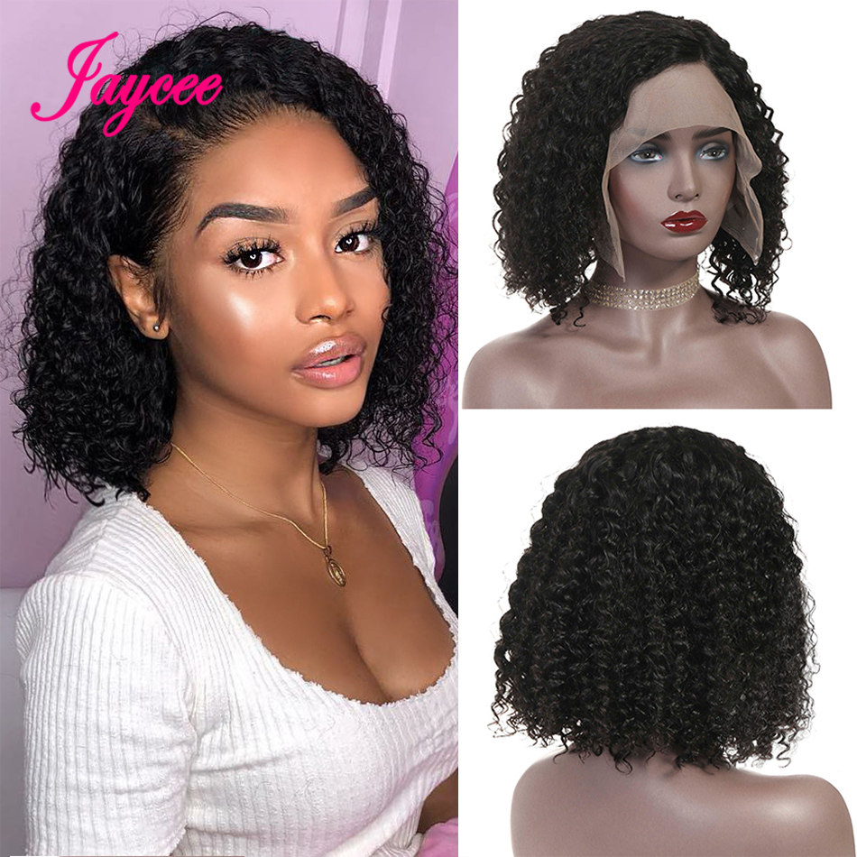 Brazilian Curly Bob Wig Human Hair Lace Front Wigs 10inch Cheap Short Wig 13x4 Lace Glueless For Women Cheveux Humain Perruque