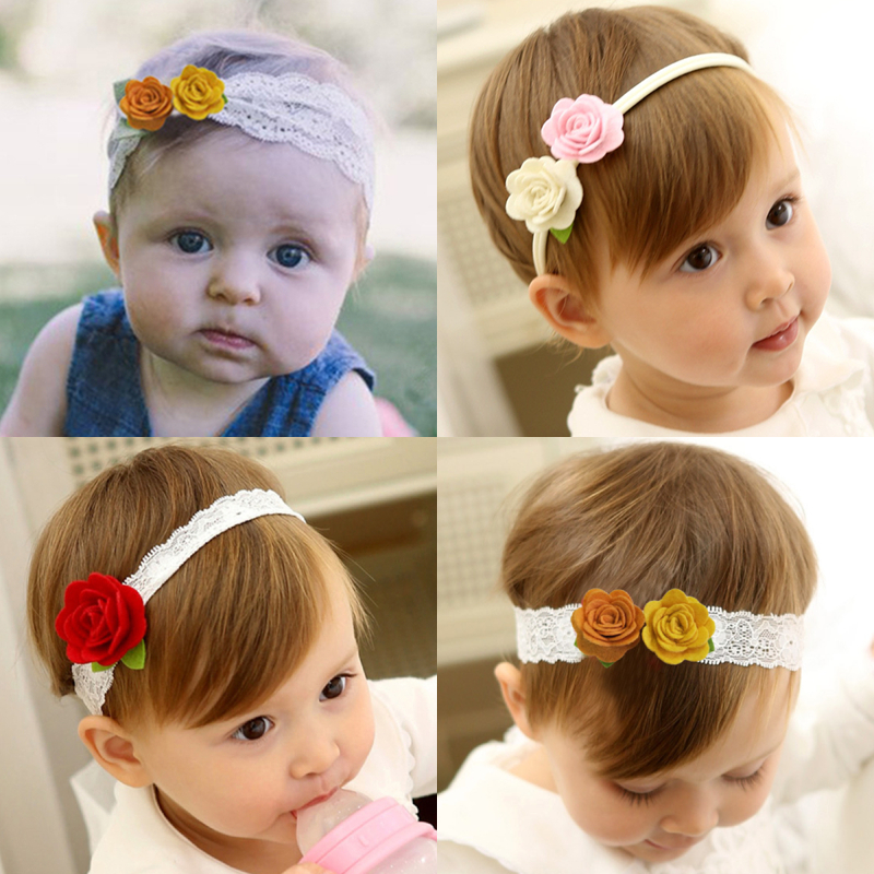 New Design Cute Baby Headband Girls Non-woven Flowers Elastic Hairbands Toddler Girl Headwear Accessories Infantil Menina 0-3Y