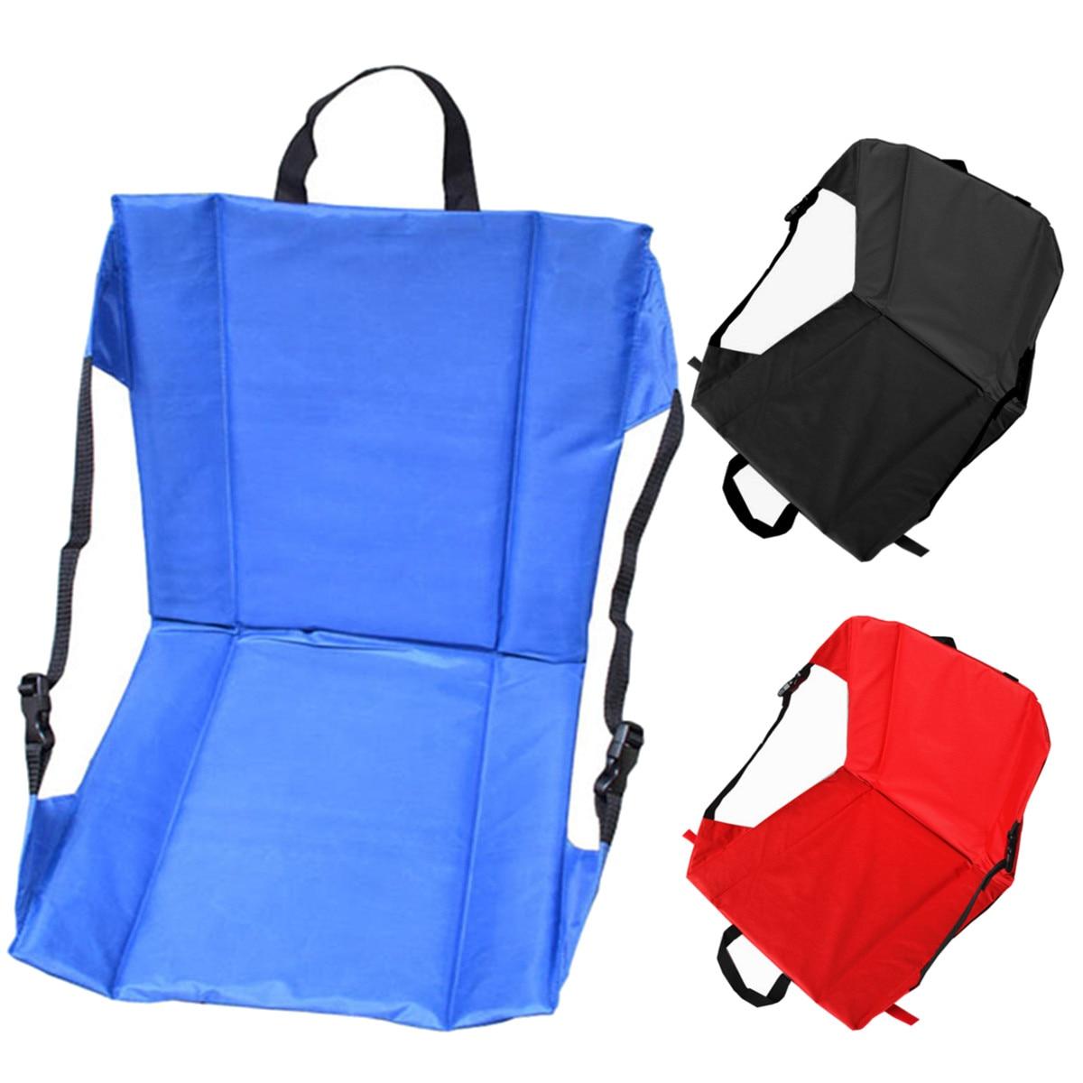 41x41x4cm Portable Foldable Outdoor Picnic Camping Beach Chair Garden Sofa Chair Garden Chair Seats Soft Stadium Seat Cushion