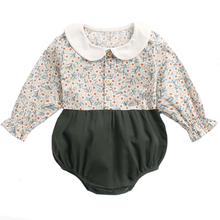 Floral Jumpsuit Outfit Clothing Baby-Girl Vintage Kids Cotton Fashion New Born