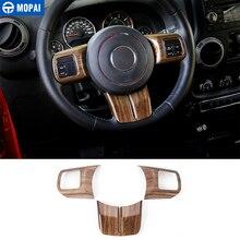 Cover-Accessories Compass MOPAI Car-Steering-Wheel Wood-Grain Patriot Jeep Wrangler Cherokee