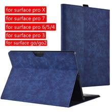 Caso da tabuleta para microsoft surface pro x pro 7 6 5 4 portátil luva protetora para superfície pro 3 go 2 trifold suporte capa