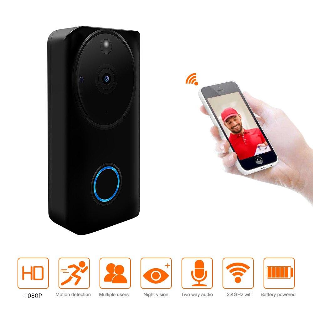 Fictory Intercom Sonnette 2,4 GHz Mini Portable Way Dual Voice Intercom Sonnette sans Fil Interphone