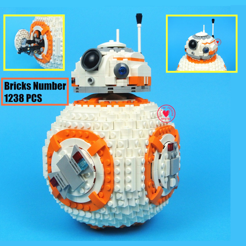 New 1238PCS <font><b>Bb8</b></font> Technic Robot <font><b>Star</b></font> <font><b>Wars</b></font> Figures City Model Building Block Bricks Boys 75187 Gift Toy Kid Boy Birthday Lepining image