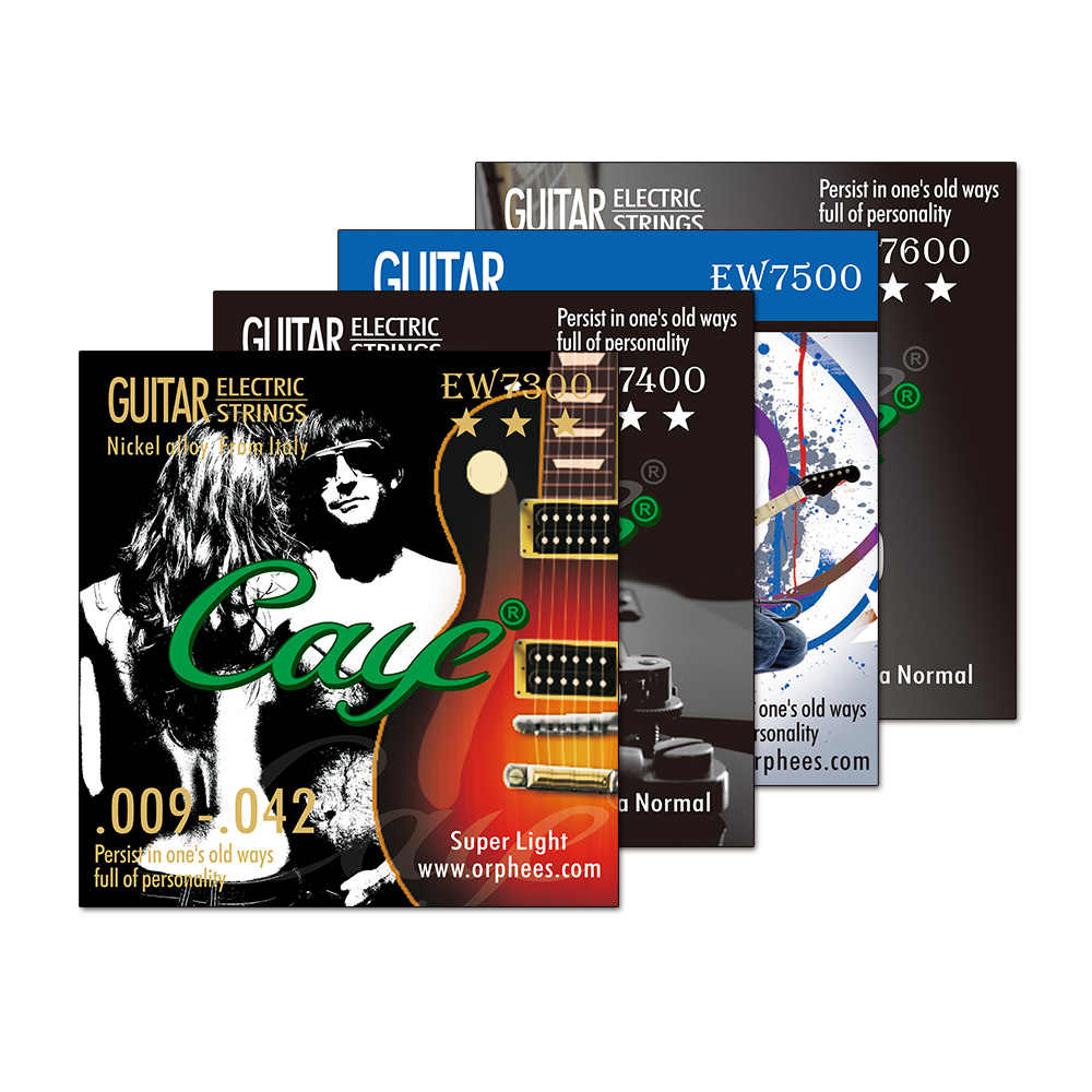 Orphee Caye EW Electric Guitar Strings Set Metal Rock Hexagonal Carbon Steel Electric Guitar String Sets for Guitar Accessories