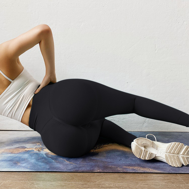 Yoga Pants Women Leggings For Fitness High Waist Gym Legging Women Push Up Solid Workout Fitness Women Seamless Leggings