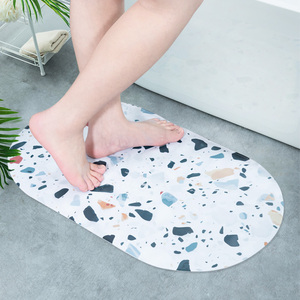 Non Slip Bathroom Mat Soft Waterproof PVC Sucker Carpet Bath Mats Round Bathroom Foot Massage Bathmate Rectangle Oval 10 Styles(China)