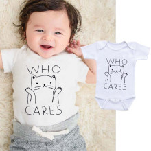 DERMSPE Infant Children Newborn Clothes Casual 0-24M Short sleeve Cute Lovely Playsuit One-piece Shirt Happy Children Jumpsuit(China)