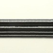 Pierre hématite noire en forme de Heishi naturelle, perles d'espacement amples, taille au choix 4 6 7.5 10MM, 15 pouces, fabrication de bijoux