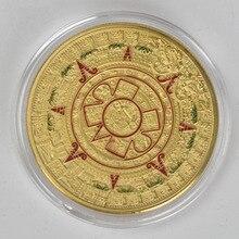 Gold/Silver coin Mayan Aztec Prophecy Calendar Souvenir Commemorative Gift