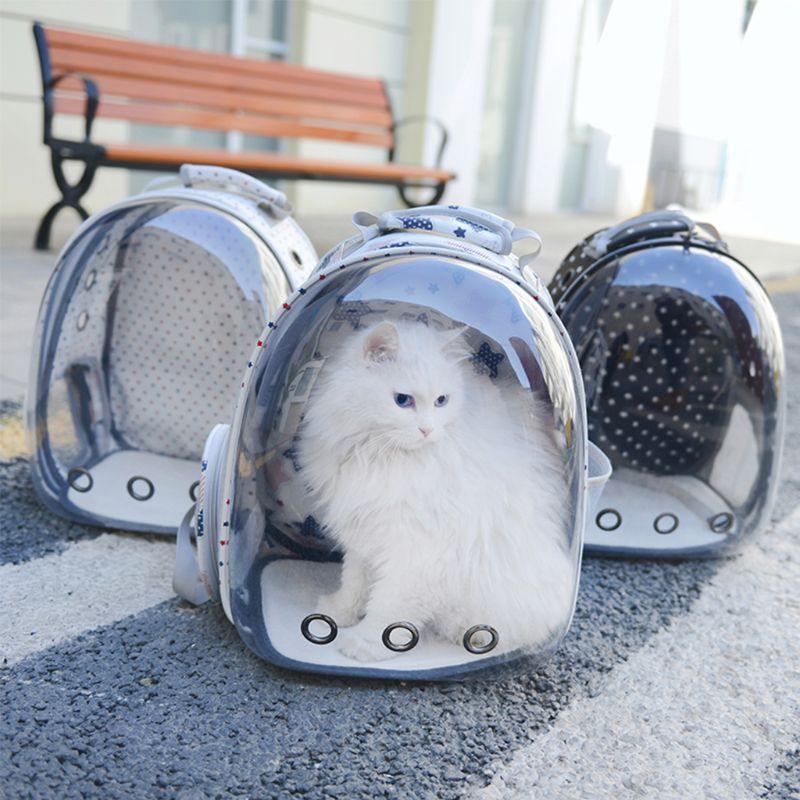 Переносная сумка для щенков для домашних животных, рюкзак для путешествий, переноска для кошек, собак, космическая капсула, дышащая