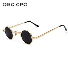 OEC CPO-gafas de sol redondas para mujer y hombre, anteojos de sol femeninos pequeños, de diseño de marca, de Metal, O89, 2019