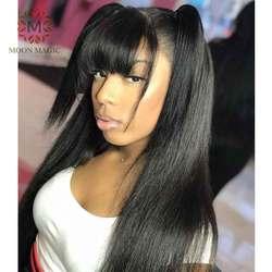 Парик челки из человеческих волос, 360 фронтальный парик шнурка с детскими волосами предварительно отобранные человеческие волосы парики с ...