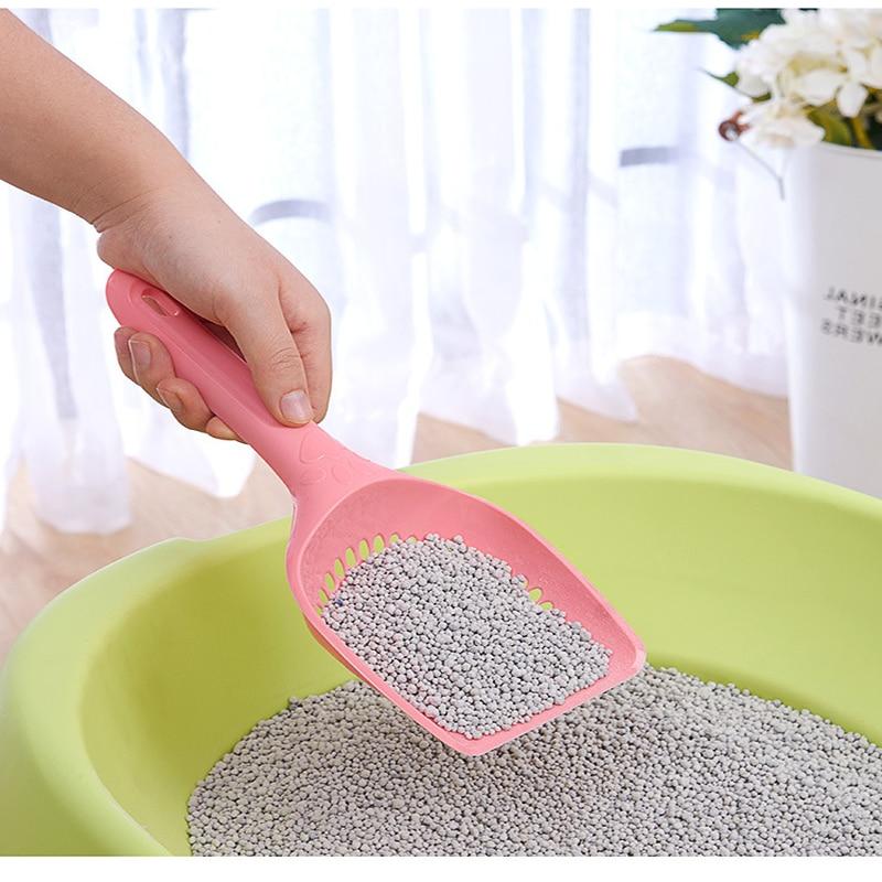 Pet Cat Litter Scoop Plastic Dog Cat Litter Shovel Pet Cleaning Tool Universal Pets Kitty Sand Waste Scooper