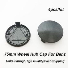 4pcs/set Car Styling 75MM 7.5CM Wheel Rim Center Cap ABS 3 pins Black Base Auto Hub Badge Covers