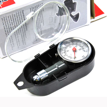 Analog Auto Wheel Tire Air Pressure Gauge Meter Handle Mirror Shaped Vehicle Motorcycle Car Tyre Tester Tyre Air Monitor System cheap EAFC metal ET003 diagnostic-tool