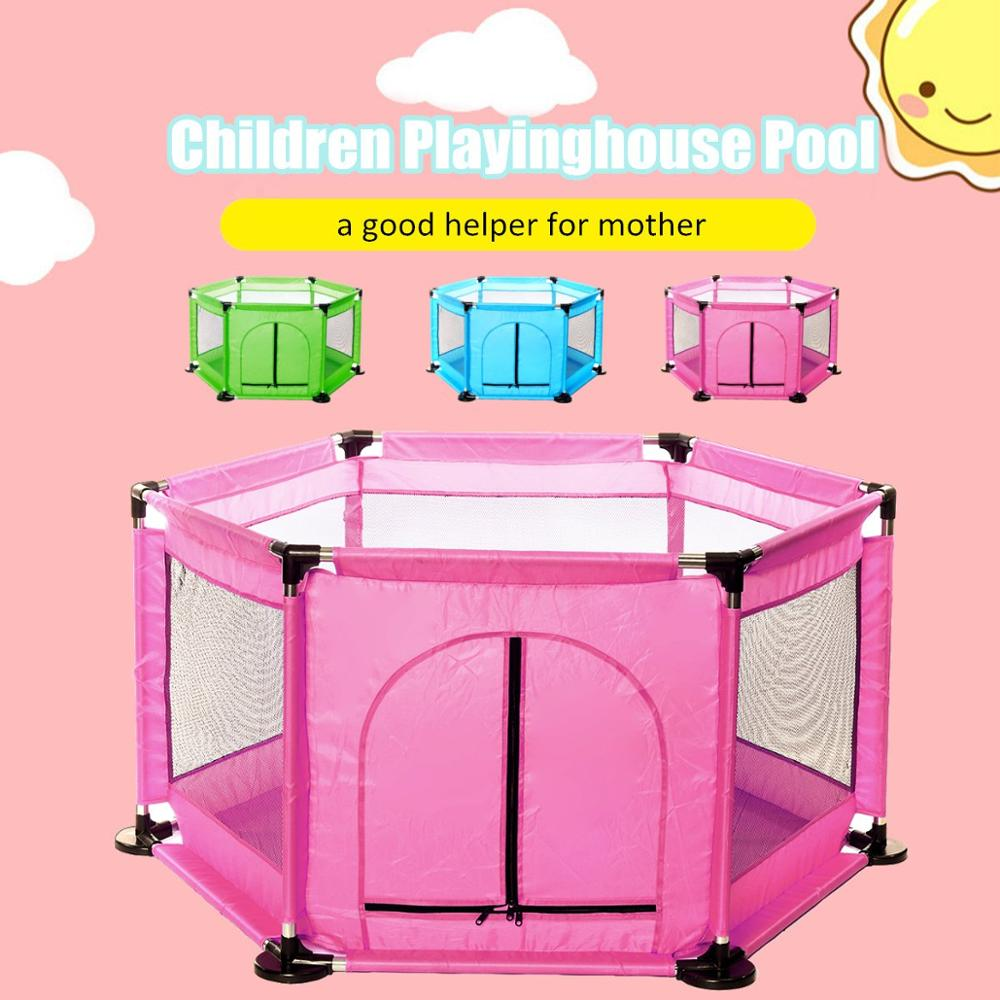 6 Sided Baby Playpen For Baby Pool With Balls Kids Play Park Children's Homes Baby Playground Indoor Basketball Football Field