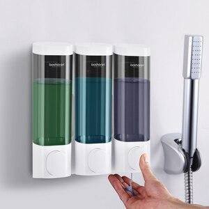 Image 2 - Soap Dispenser Wall Mount Shampoo Shower Gel Dispensers Triple Double Single Body Wash Dispenser For Bathroom Kitchen Toilet