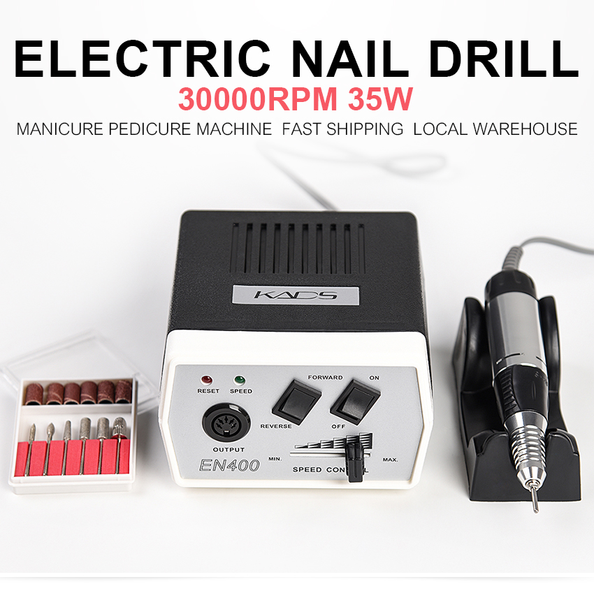 35W 35000RPM Electric Nail Art Drill Machine Nail Equipment Manicure Machine Pedicure Files Electric Drill Nail Accessory Tools