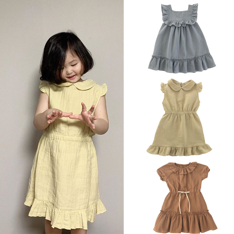 2020 Liilu Brand New Summer Kids Dress For Girls Fashion Princess Dresses Baby Child Clothes
