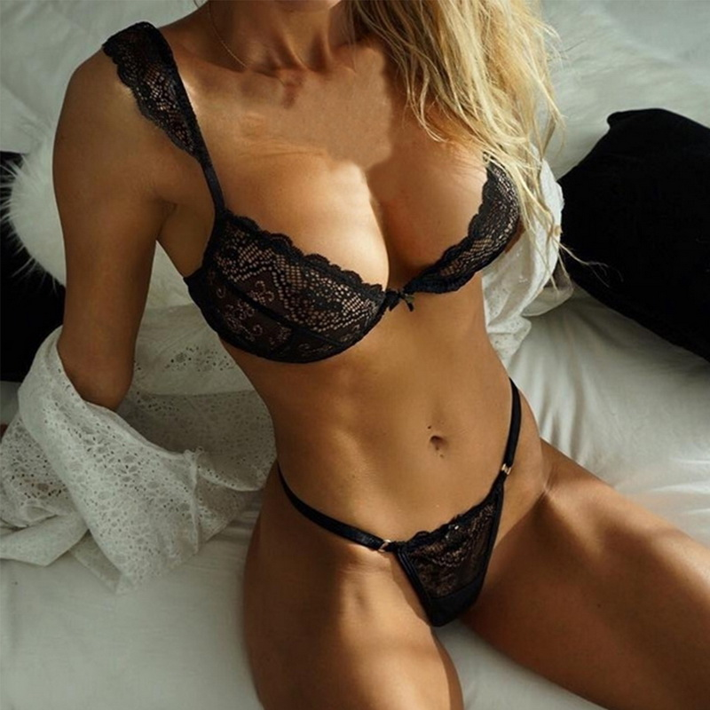 Jodimitty mulheres rendas sexy cílios conjuntos de sutiã de renda sem costura sem costas colete lingerie sexy cuecas femininas íntima