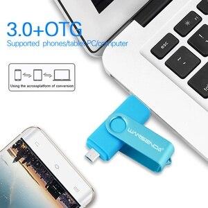 Image 5 - WANSENDA Usb 3.0 محرك فلاش USB عالية السرعة OTG القلم محرك 16GB 32GB 64GB 128GB 256GB بندريف 2 في 1 المصغّر USB عصا مزدوج USB