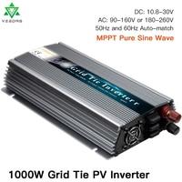 1000W On Grid Tie Solar Inverter, 20 50V DC to AC 80 260V Micro Inversor Pure Sine Wave Inverter for 1000 1200W 24V, 30V, 36V PV